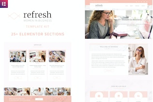 Refresh - Women in Business Elementor Template Kit