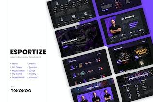 Esportize | eSports Elementor Template Kit