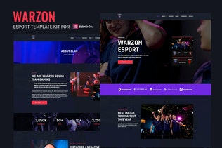 Warzon - Esport Elementor Template Kit